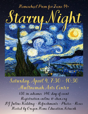 OHEN Prom theme Starry Night, April 4th